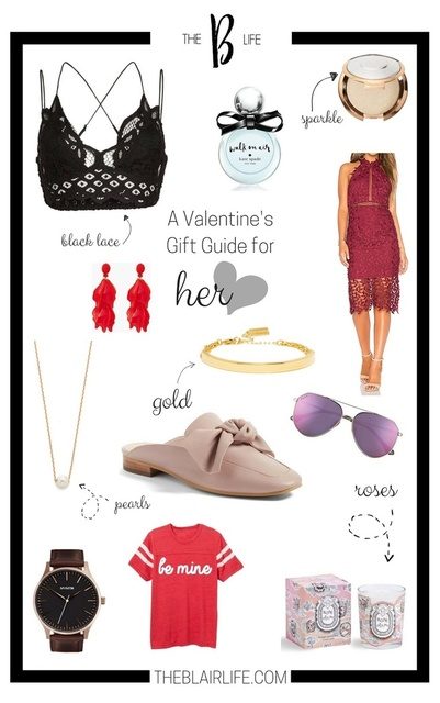 So many options for classic and fun twists on Valentine's Day gifting for her!  #giftguide #valentinesday #shopthelook