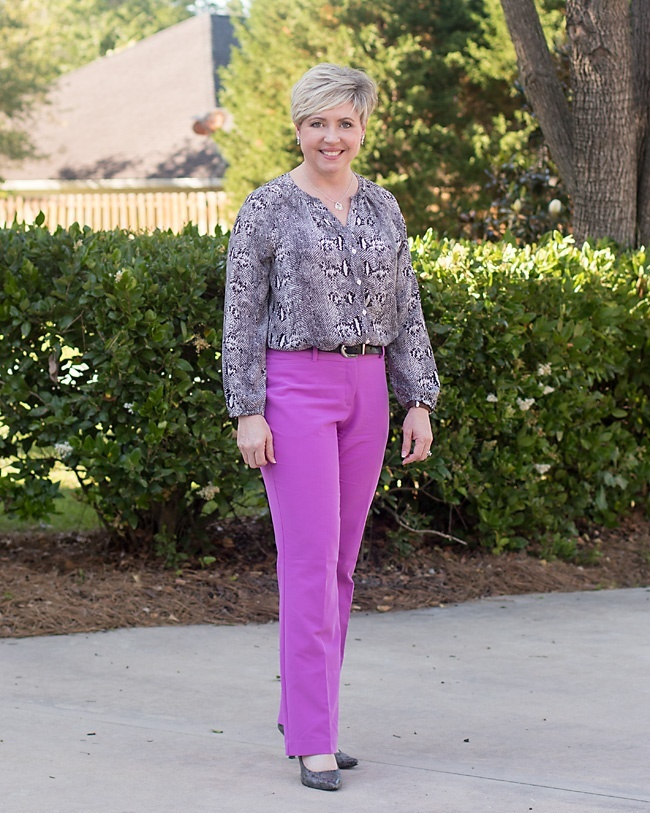 Look by Savvy Southern Chic featuring Worthington Womens Curvy Fit Perfect Trouser