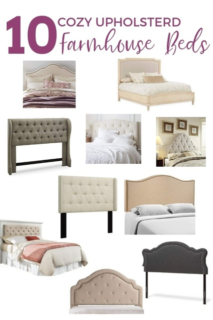 Cozy Upholstered Farmhouse Bed, beige bed, grey bed #ad  #masterbedroom #bedroom #ShopStyle