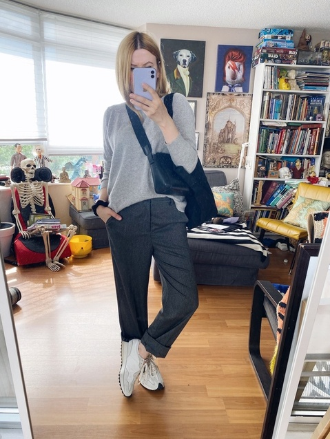 What I Wore This week | Sweater | Trousers | Crossbody | Sneakers | Tote | livelovesara  #ShopStyle #MyShopStyle