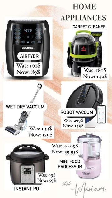 re's the best of them. From carpet cleaners, spice grinders, robot vaccum, air fryers and instant pots. Deal for days is here