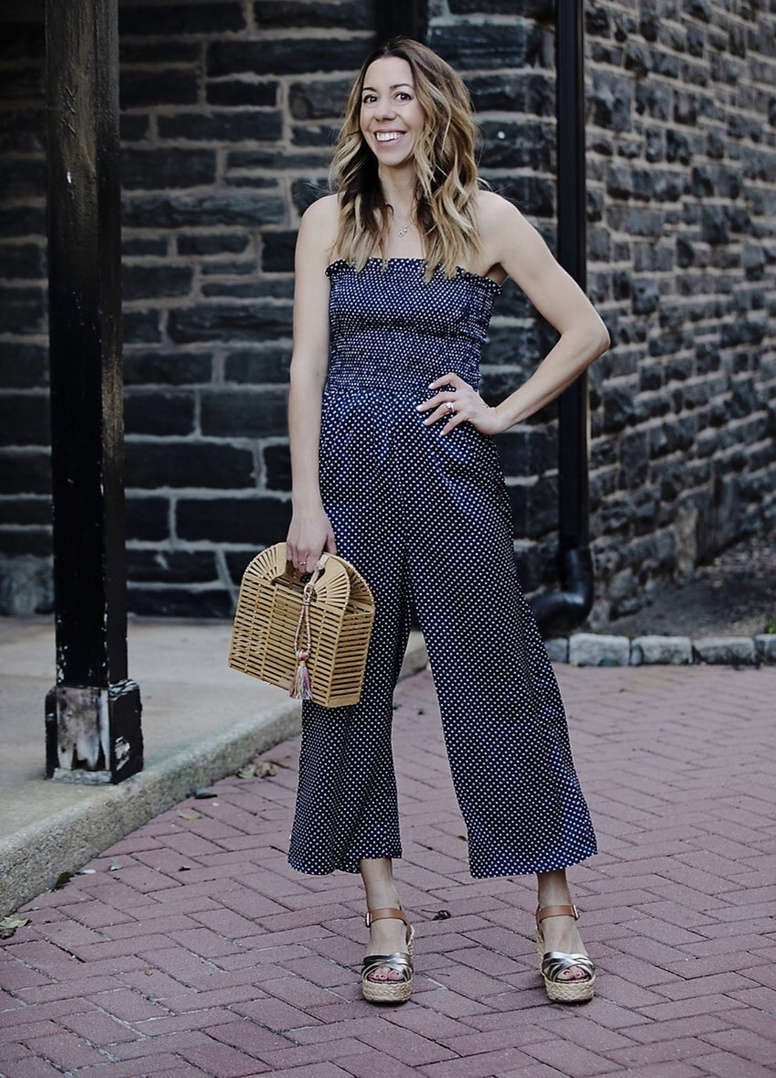 "When in doubt…. Jumpsuits. They have that ""it"" factor, that double-take factor, that EXTREME comfort factor. Dare to wear one to your next dress-up worthy event on the calendar? New post is live on the blog with @lordandtaylor sharing how I styled this polka dot number plus other ways to dress it up or down! Also check out their Friends + Family sale that takes and extra 30% OFF almost everything and 15% OFF almost all beauty #sponsored @ShopStyle"