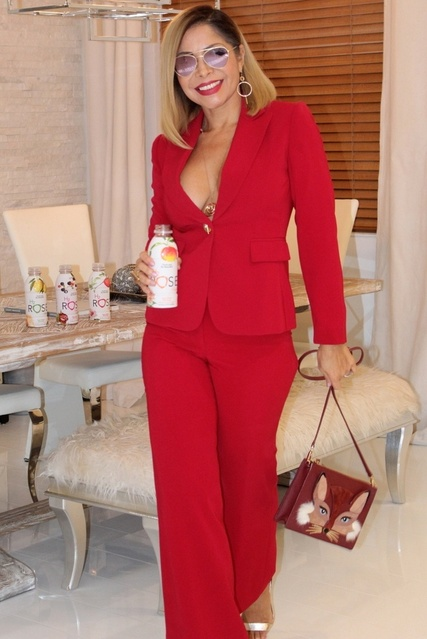 Rose Water Beverage. Read more at my blog Miamifashionspotlight.org #miamifashionspotlight #ladyinred #MyShopStyle #Lifestyle