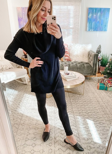 basic black look... fancy flats! That are now on sale and an extra 20% off with code SAVE20. #ShopStyle #Winter #MyShopStyle