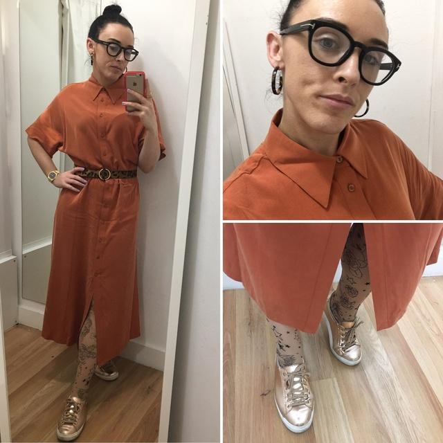 ts: leopard print belt and tattoo printed tights #ShopStyle #MyShopStyle #mystyle #mylook #ss #ss19 #shirtdress #tattootights