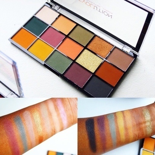 Makeup Revolution Reloaded Division Palette Swatches #ShopStyle #makeup #beauty