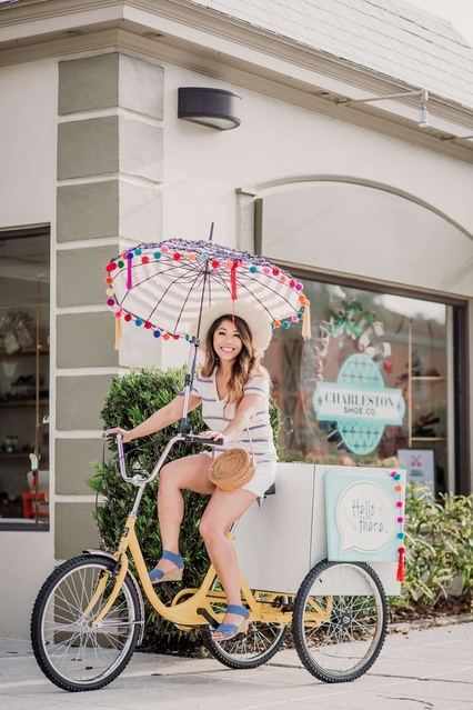 m shorts. Striped Tee  #ShopStyle #MyShopStyle #LooksChallenge #ContributingEditor #Lifestyle #TrendToWatch #Travel #Vacation