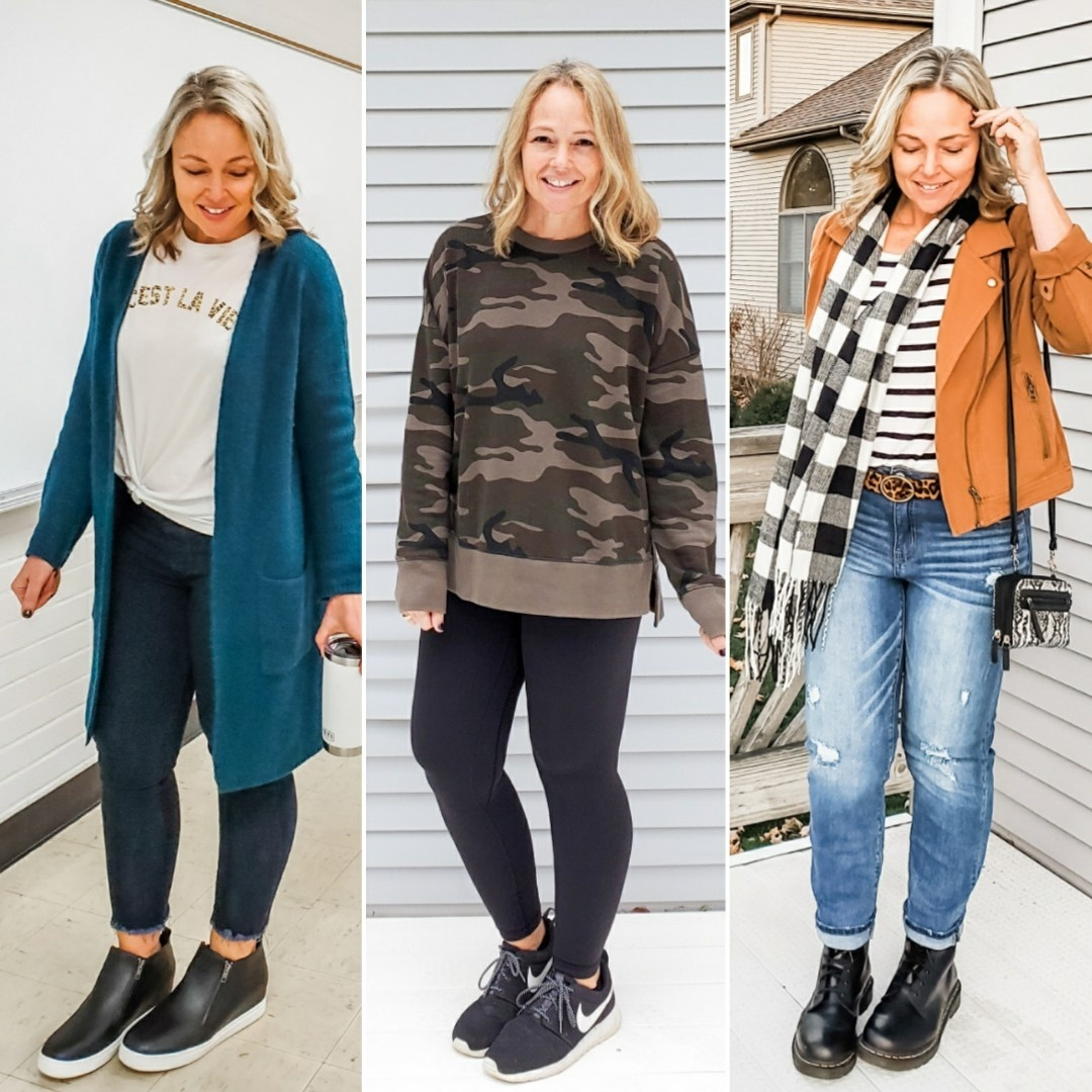 Look by everydayteacherstyle featuring Time and Tru - Time and Tru Women's Boucle Cardigan - Walmart.com