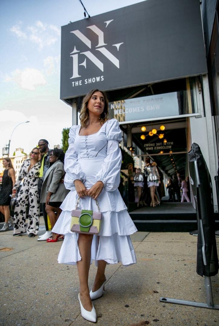 Look by Jenna Strauss featuring Jonathan Simkhai Cotton checked dress