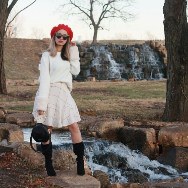 red beret #ShopStyle #MyShopStyle #TrendToWatch #LooksChallenge #ContributingEditor #Party #Petite #Beauty #Winter #Lifestyle
