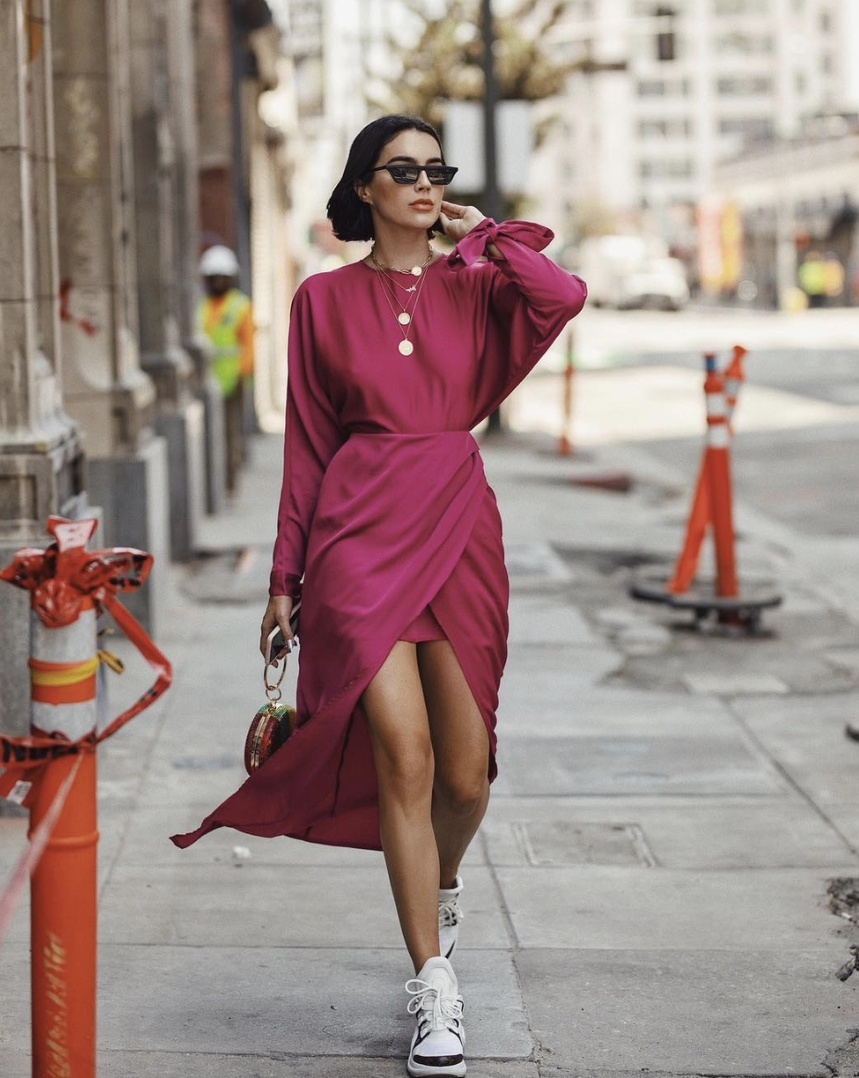 New haul on my YouTube channel w/ where I got this dress and other fall favorites #SummerStyle #ShopStyle #WearToWork #WeekendLook #TravelOutfit #BirthdayParty #shopthelook #MyShopStyle #DateNight #OOTD #BlackTieLooks #SpringStyle #asos #maxidress #hotpink #Magenta