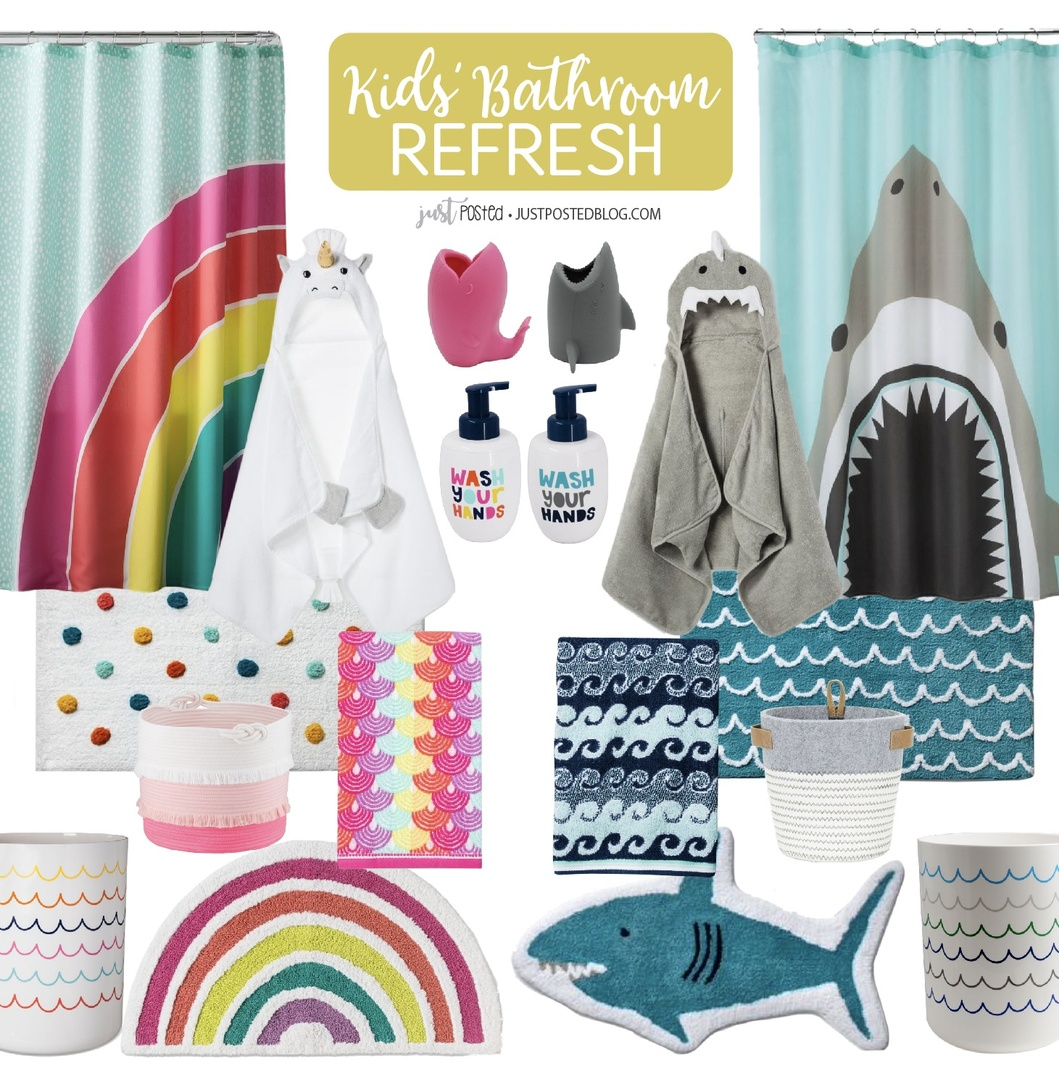 Look by Just Posted featuring Rainbow Shower Curtain - PillowfortTM