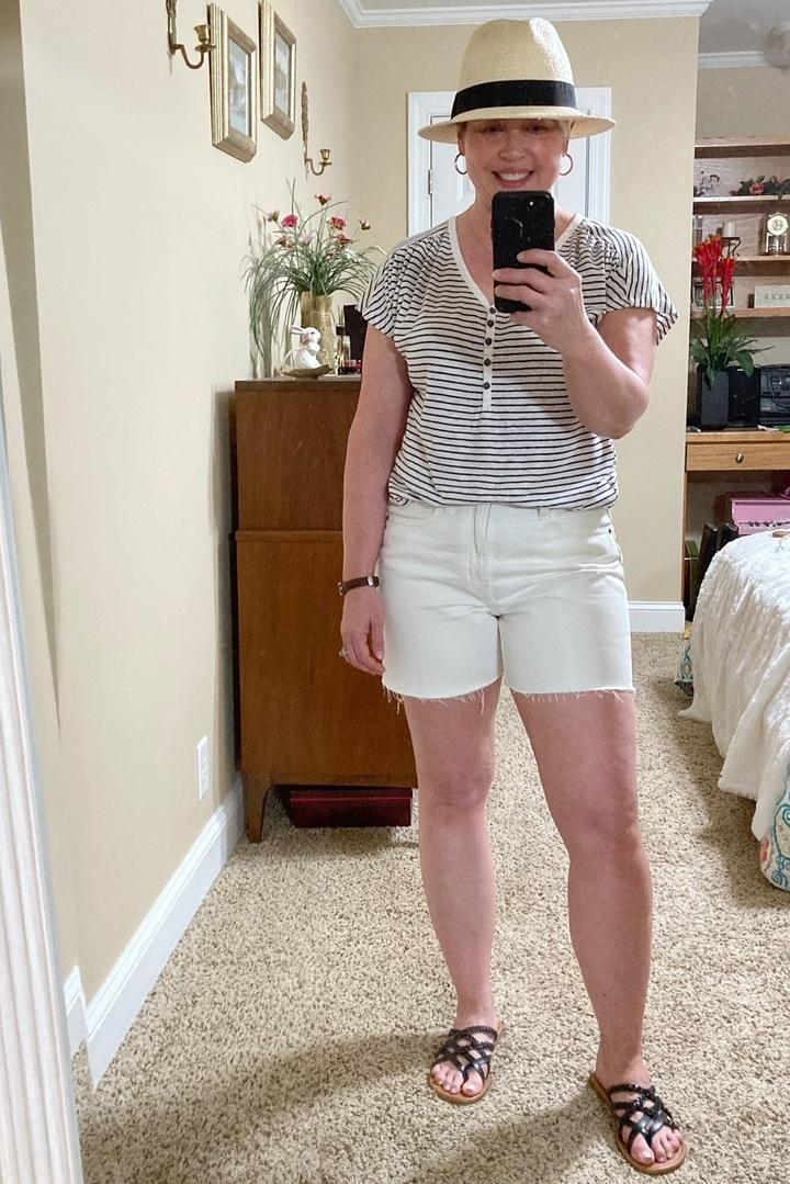 Look by Savvy Southern Chic featuring Lanzom Women Wide Brim Straw Panama Roll up Hat Fedora Beach Sun Hat UPF50+
