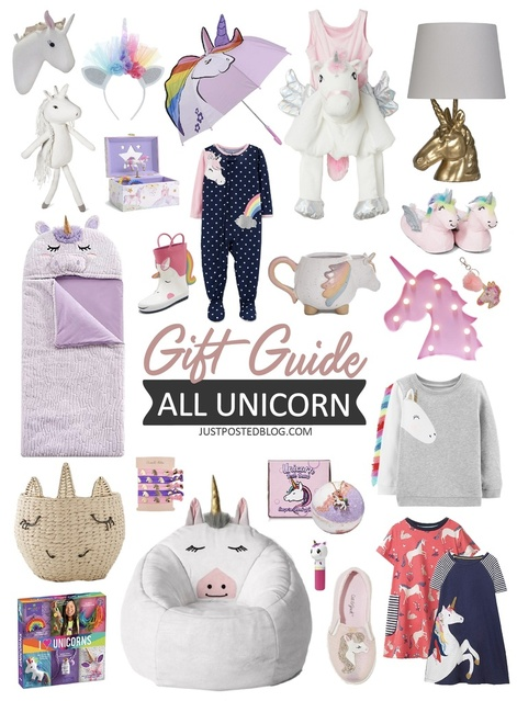 Kidorable Unicorn Pop up Umbrella for Kid with Safety Open and Close by Micaddy Age 3-7