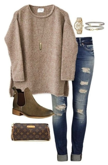 Cute Fall Sweater Outfit Idea. <3 <3 #ad #ShopStyle #shopthelook #MyShopStyle #FallFashion #WomansFashion #Sweater #Outfit