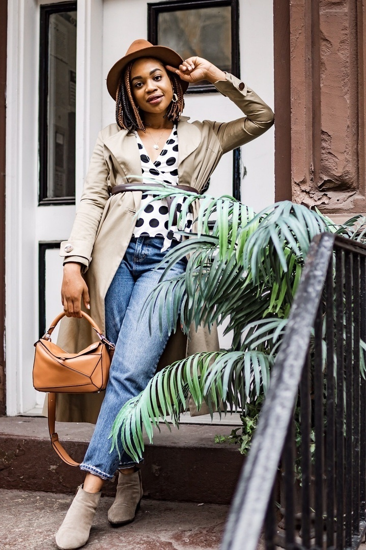 Polka dots & trench coats - the perfect transitional combo! #ShopStyle #MyShopStyle #ContributingEditor #LooksChallenge #TrendToWatch
