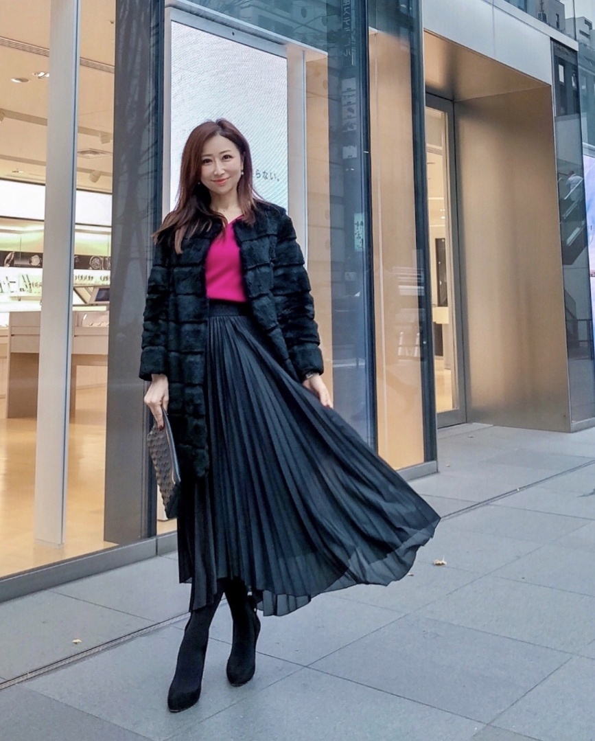 it #winter #black #pink #milaowen #happy #skirt #lifestyle #instalike #sscollectivejp #sslooksjp #shopstylejp #shopping #cute