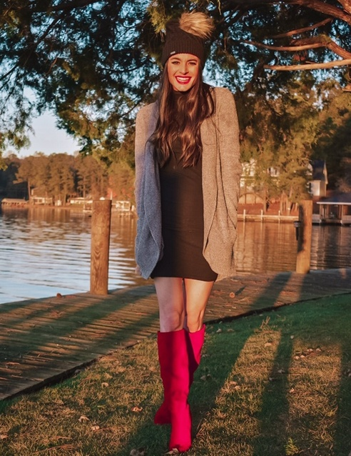 l winter 2019 look that has a fun statement pop with the red boots! #ShopStyle #MyShopStyle #ContributingEditor #TrendToWatch