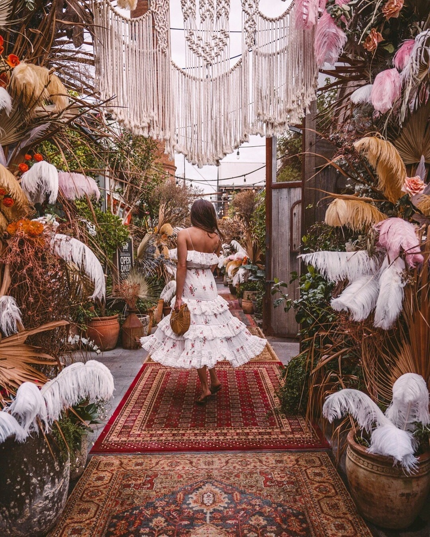 A bohemian paradise at The Grounds of Alexandria in Sydney. This was their Valentine's Day decor, how pretty is this? #ContributingEditor #LooksChallenge #MyShopStyle #ShopStyle #Holiday #Lifestyle #TrendToWatch #Travel #Vacation