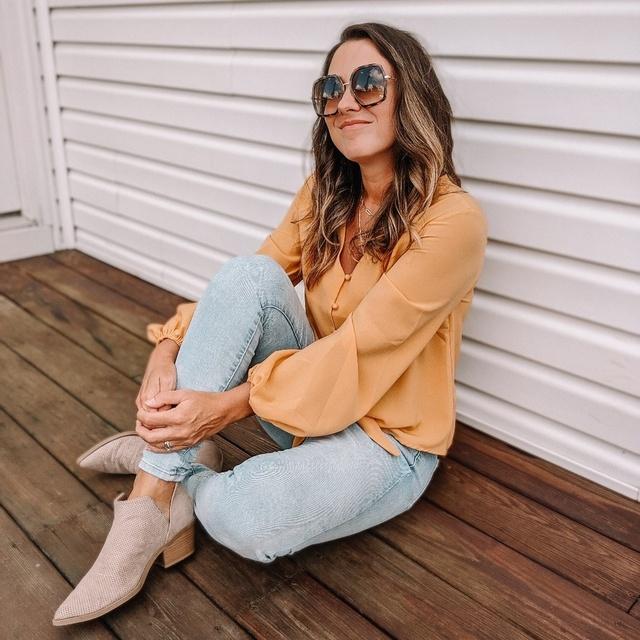 Gorgeous buttercup blouse for fall #ShopStyle #MyShopStyle #fallfashion