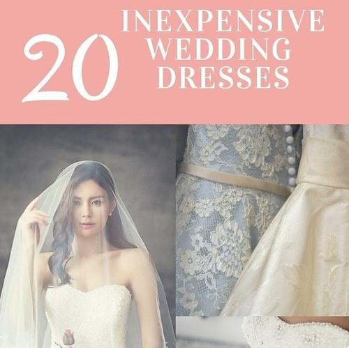 20 Inexpensive wedding dresses
