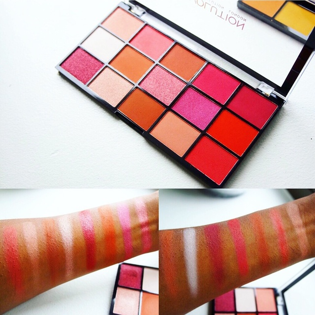Swatches of the Makeup Revolution Newtrals 2 Palette