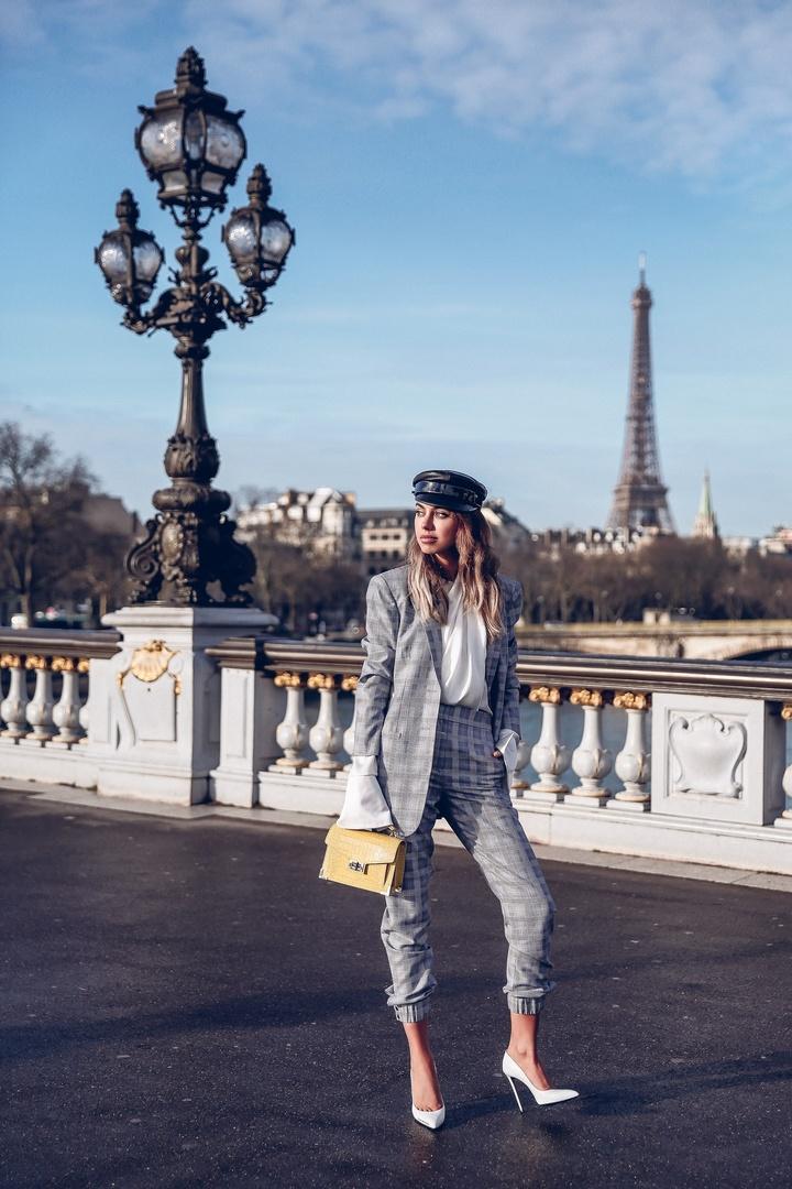 Walking around Paris - wearing Tibi suit #ShopStyle #shopthelook #MyShopStyle #OOTD
