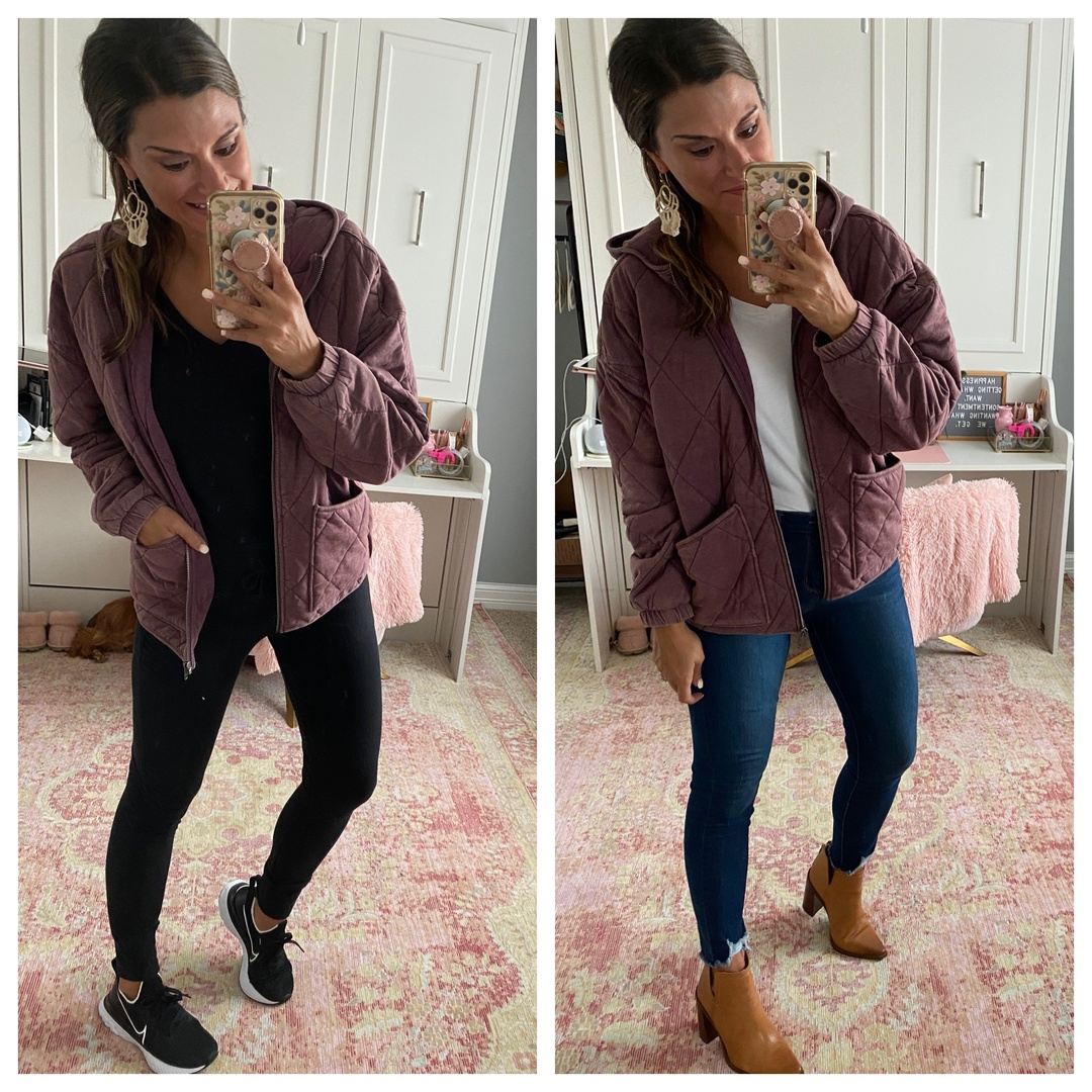 Look by Just Posted featuring Women's Hooded Quilted Jacket - Wild FableTM