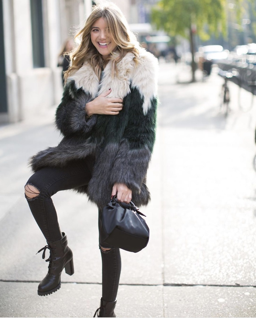 Look by HonestlyKate featuring Apparis Louise Faux Fur Jacket