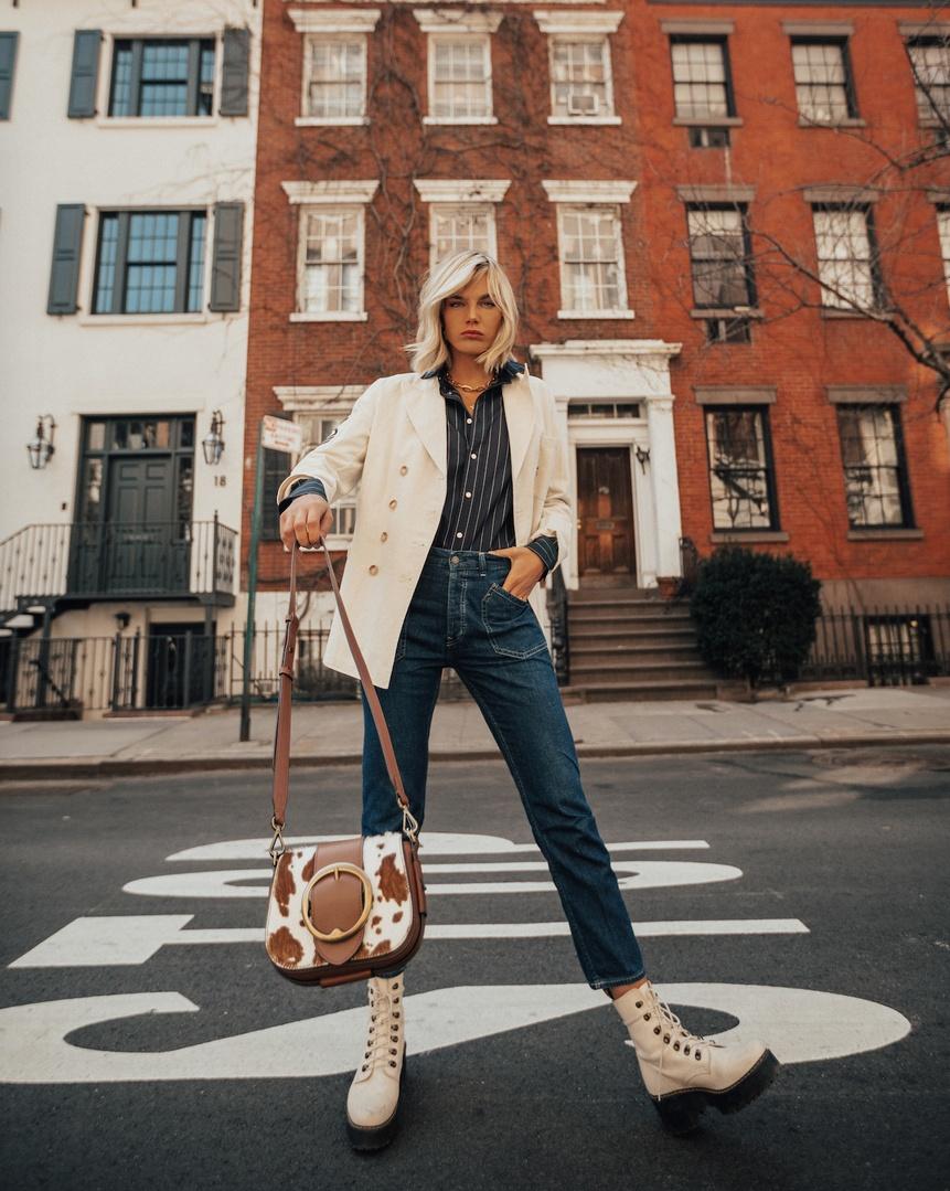or Spring- wearing Polo Ralph Lauren denim @poloralphlauren    #ShopStyle #PoloDenim #PoloRalphLauren #MyShopStyle #sponsored