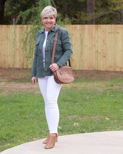 Simple spring look #ShopStyle #springstyle #shirtjacket