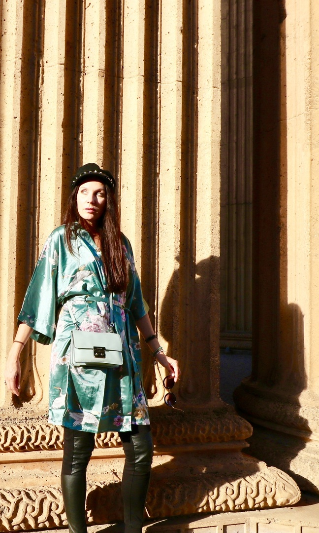 Look by CAfashionlifestyle featuring Lynn graphic print kimono