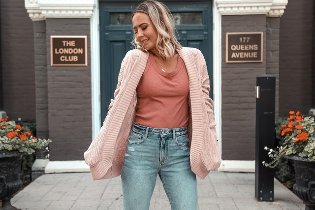 ing in this cardigan, cozy and cute. #ShopStyle #MyShopStyle #fallfashion #fallstyle #cardigan #fallvibes #momstyle #momjeans