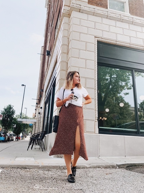 Easiest way to dress down a dress? Throw a tee over it! #ShopStyle #MyShopStyle #Lifestyle #StreetStyle #KC #KansasCityStyle