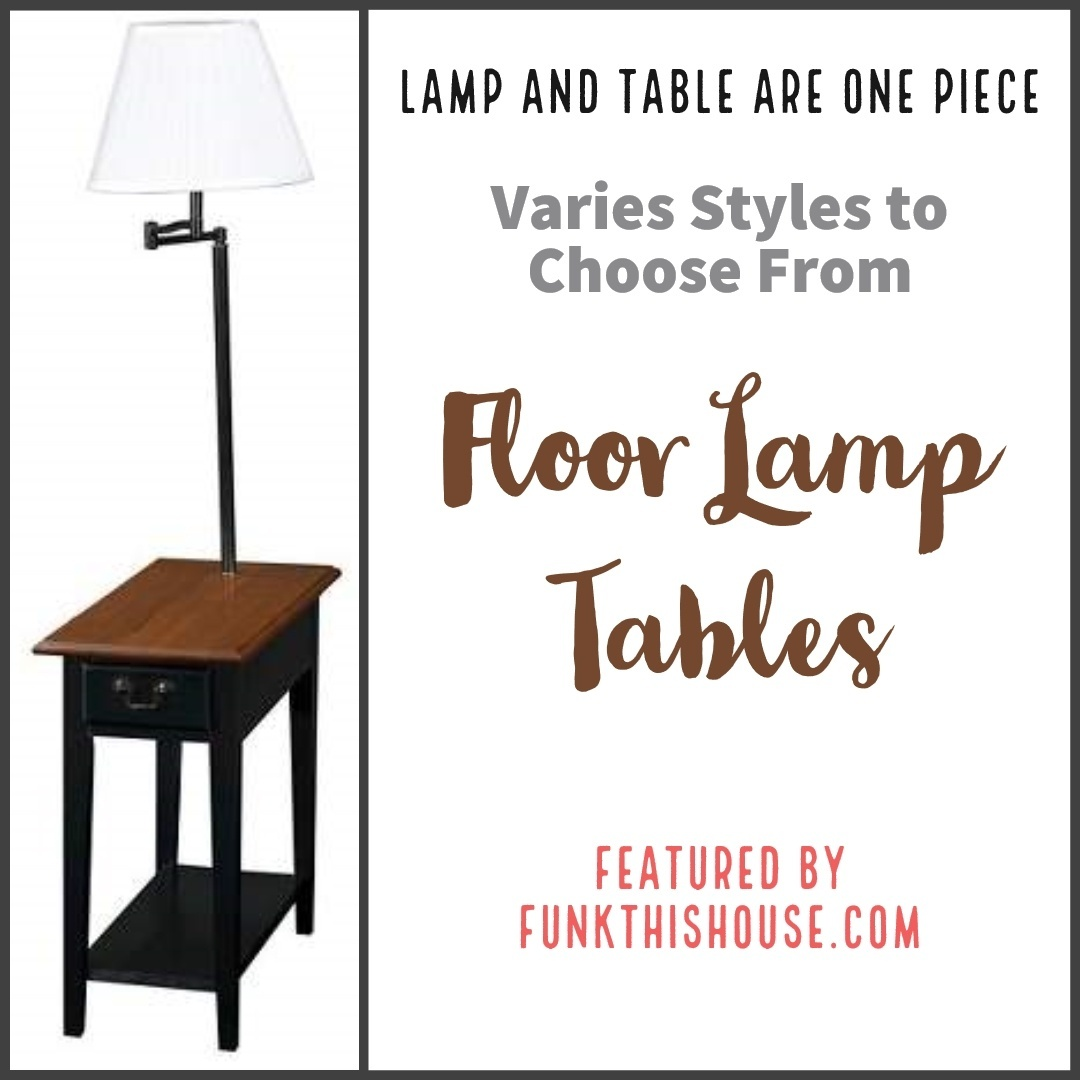Look by Funkthishouse featuring Pacific Coast Metal Floor Lamp with Tray and Usb Port