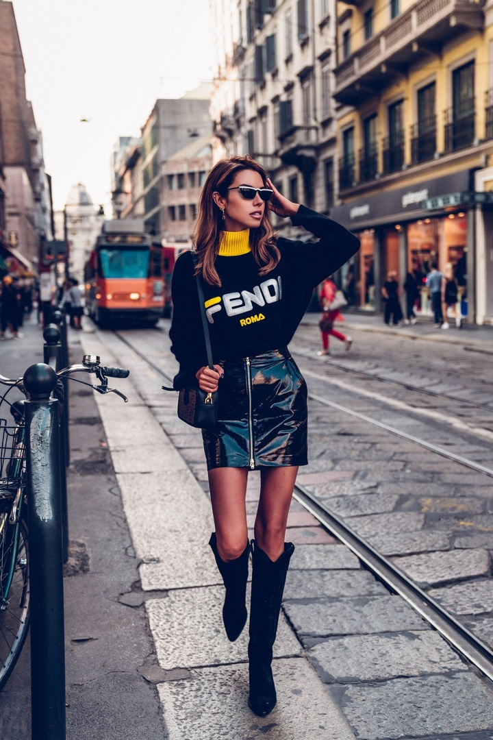 Look for the Fendi show / Milan Fashion Week #ShopStyle #shopthelook #OOTD #fashionweek #mfw