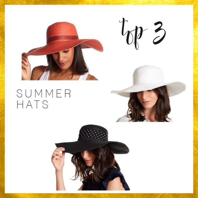 #TOP3 Summer Hats