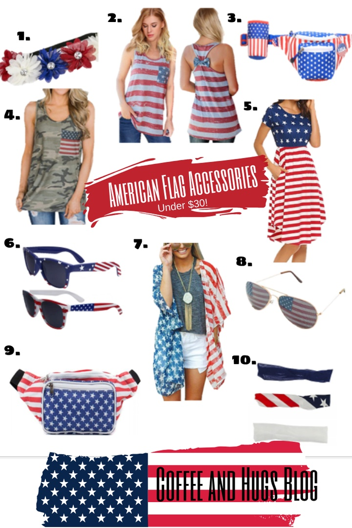 Look by coffeeandhugs featuring Imysty Womens Casual Sleeveless Camouflage Tank Tops American Flag Print Racerback Camo Shirts