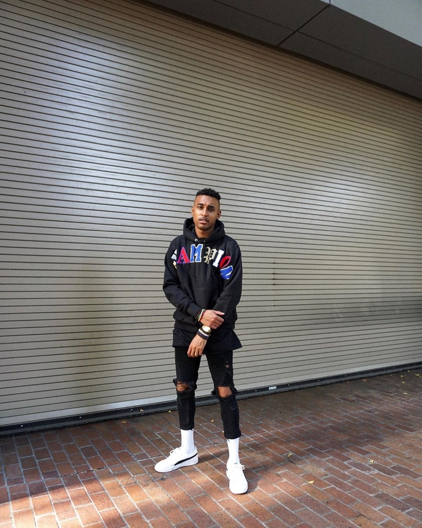 Fashion Look Featuring Puma Sneakers and Champion Sweats & Hoodies by allenrobateau ShopStyle