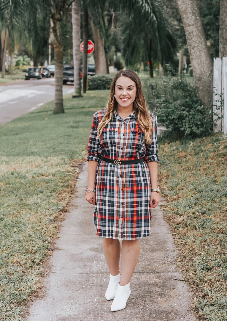 Womens Plaid Shirt Dress Universal Thread