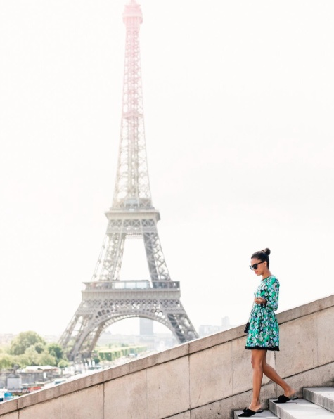 Visited the Eiffel Tower in this floral Shoshanna dress, Quay sunglasses, and my first Chanel purse! #eiffeltower #paris #france #shopstyle #europe #stylemetravels #travel #trip #chic #ootd #ootn #florals #dress #shoshanna #topshop #mules #bow #currentlywearing #summer #summerstyle #fashion #quay #sunglasses #lookoftheday #todaysdetails #chanel #purse #topshop #fashion