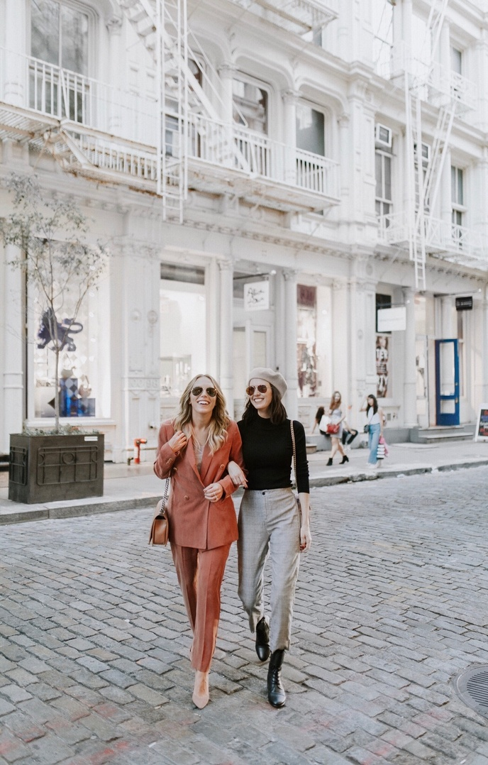 Because two is always better than one!    #nyc #soho #streetstyle #duo #friends #bloggers #ShopStyle #ssCollective #MyShopStyle #ootd #mylook #fallfashion #lookoftheday #currentlywearing #todaysdetails #getthelook #wearitloveit