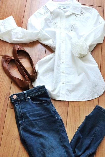 ts  #OOTD #DateNight #WearToWork #SpringStyle #shopthelook #ShopStyle #whiteshirtlook #whiteshirtbluedenim #shirtandjeanslook