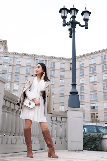 lassic pieces that you can match many different ways, such as this Zimmermann dress and Burberry trench coat. #chic #feminine