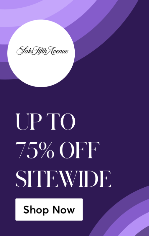 Saks Up to 75 off