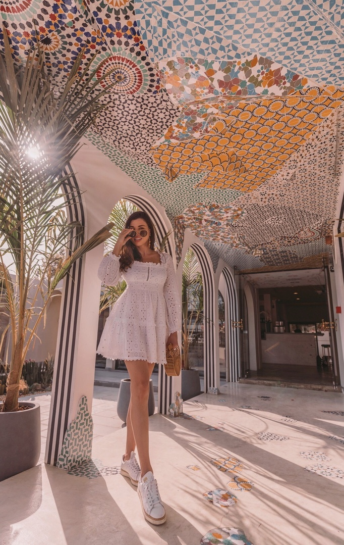 The best find for the summer! Cutest white eyelet dress by ASOS which I dressed with my favorite sneakers and bag. #ShopStyle #MyShopStyle #LooksChallenge #ContributingEditor #Lifestyle #TrendToWatch #Travel #Vacation