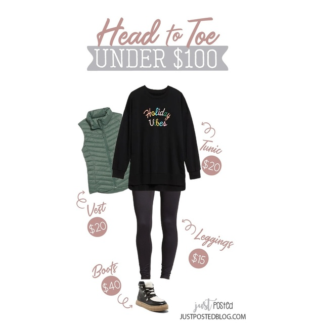 est, sweatshirt and leggings drop an extra 50% off in your cart! The sweatshirt runs large. I size down 1 size in this style.