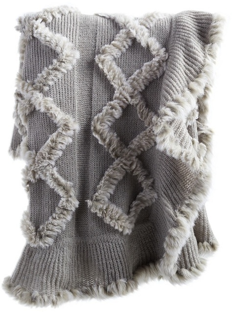 Faux fur knitted throw blanket / on sale #ShopStyle #MyShopStyle #LooksChallenge #ContributingEditor #Lifestyle