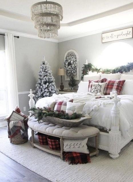 Bedroom Christmas decor #ad
