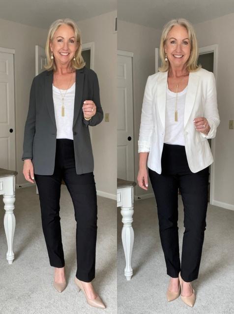 blazers and tees. Take the plunge! #dressedformyday #ShopStyle #MyShopStyle #LooksChallenge #ContributingEditor #TrendToWatch
